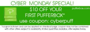 cyber monday 2015 pufferbox