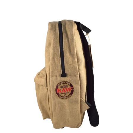 raw burlap backpack